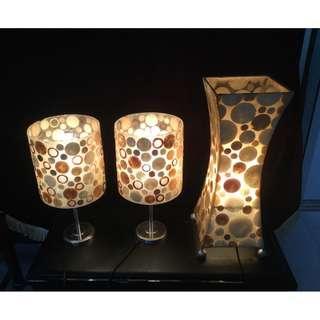 Contemporary design table lamps 3 pieces