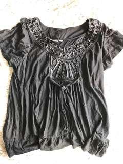 Apt. 9 petite black blouse