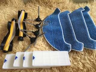 Dibea d960 Robot Replacement / Refill parts - HEPA Filter / Side Brush / Main Roller Brush / MOP Cloth