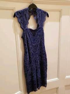 Nicole Miller blue lace dress