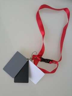 3in1 18% Balance Cards Digital Grey Card With Neck Strap