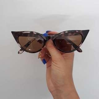 Brand New Retro Inspired Car Eye Sunglasses In LEOPARD