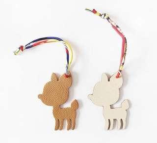 小鹿,小熊小🐱真皮包包掛飾可以掛在Hermes, Fendi, Dior, Loewe etc