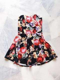 Black Floral Dress #PRECNY60