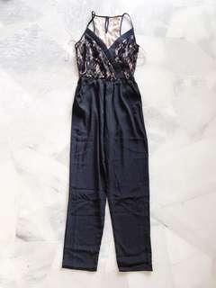 Black Lace Long Jumpsuit / Romper #PRECNY60