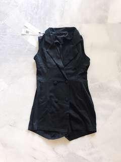 Black Suits Romper / Jumpsuit #PRECNY60