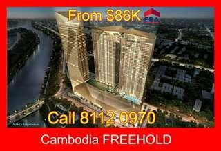 Cambodia Freehold shops + residentials for sale