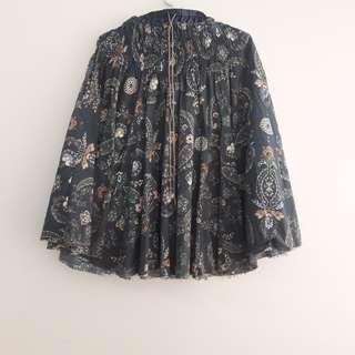Zara Blue Bohemian Skirts