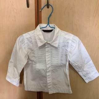 Baby Gentlemen Classic White Shirt