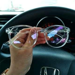Transparent Optical Eyewear Spectacles (can Put Power)