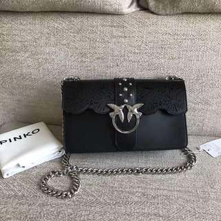 Pinko Lace Cut Out Chain Strap Bag