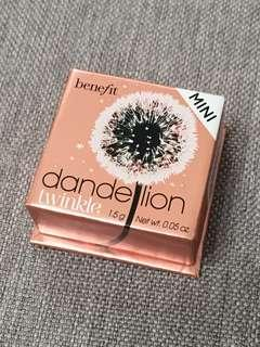 benefit dandelion twinkle蒲公英閃亮胭脂蜜粉
