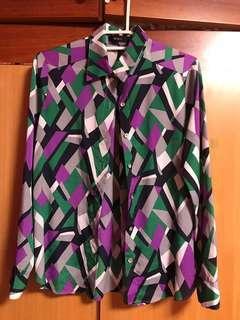 🚚 BOSCH 幾何色塊女襯衫