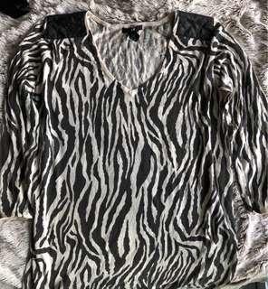 H&M Zebra print long sleeves