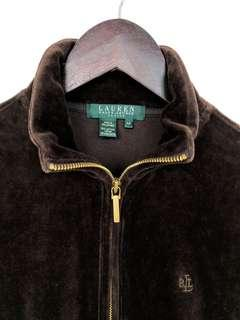 Ralph Lauren valour velvet full zip sweater