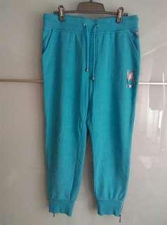 🚚 全新,K•SWISS運動褲,9分褲,中高腰,尺寸L,83%棉