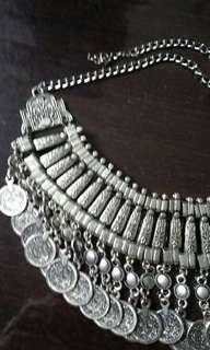 Silver/aluminium neclace