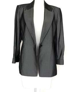 TAHARI ($220) women grey blazer - NEW