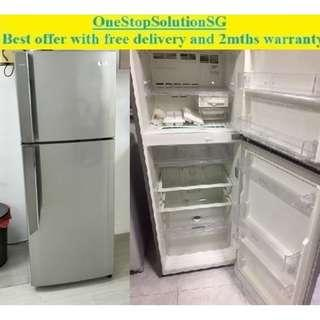 LG (350L), 2 doors Refrigerator / fridge ($280 + FREE delivery and 2mths warranty)