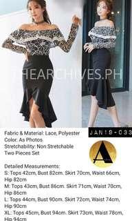 Black Lace Skirt Set (JAN19-032)