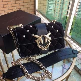 Pinko Velvet Touch Handbag