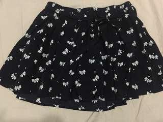 Forever 21 Black Ribbon Printed Skirt