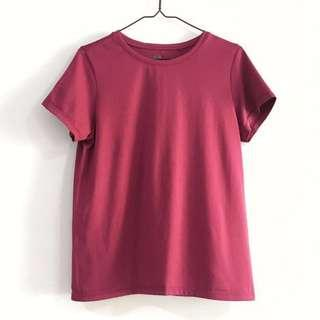 🚚 Uniqlo Women Dry-Ex Crew Neck Short Sleeved Sport Tee Shirt in Fuchsia Pink