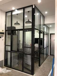 Partition with Alu & glass