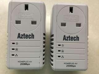 Aztech Homeplug powerline networking (4 units available)