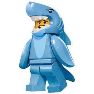 Lego Minifigure 15代 鯊魚人 連底板 (全新已開袋確認)