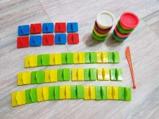 Playdoh alphabet and numbers set