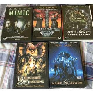 All 5 DVD Movies