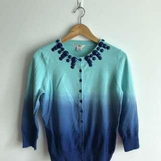 Ombré blue cardigan