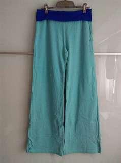 🚚 宜而爽/薄休閒褲,9成新,中低腰,尺寸M,95%精梳棉/5%彈性