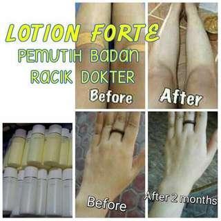 Paket lotion forte, Pemutih badan original