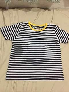Bench Black and White Striped Shirt