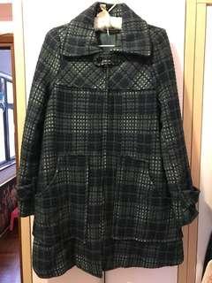 綠色日本格仔外套