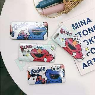 elmo and cookie monster couple phone casing [ HUAWEI ]