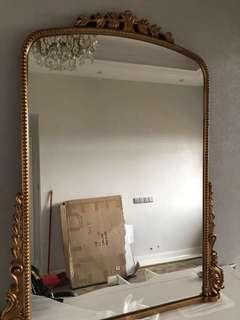(New) Parisian French Gold Mirror