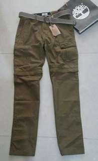 🚚 全新專櫃正品Timberland 男橄欖綠兩穿褲管設計休閒長褲30吋