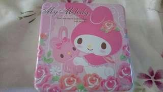 🚚 (免運費)日本限定版My Melody美樂蒂小方鐵盒超可愛下標現賺80元