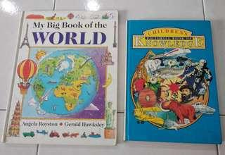 Children encyclopedia book of knowledge big book of the world