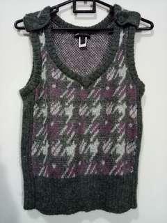 MANGO wool sweater purple