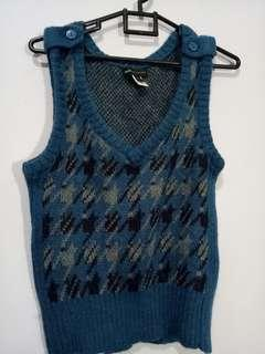 MANGO wool sweater Blue