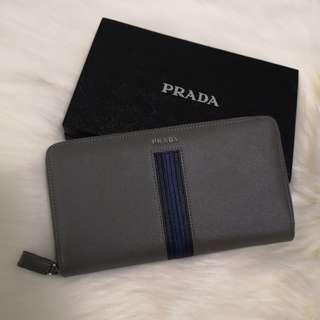 ON HAND: Authentic Prada Saffiano Zippy Long Leather Wallet