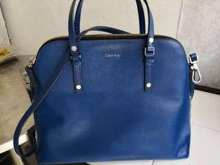 Calvin Klein leather authentic sling bag