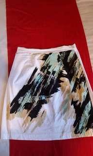Bayo Printed white skirt