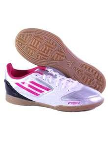 BNWOT Adidas Women's 'F5' Silver/Pink Indoor Soccer Lifestyle Shoes