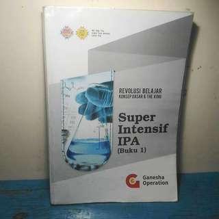 Buku Materi Super Intensif IPA SBMPTN Saintek Ganesha Operation GO 2019 Fisika Kimia Biologi Mtk Matematika