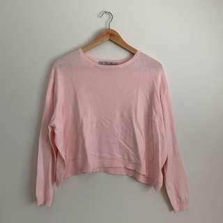 Zara Cropped Pink Knit